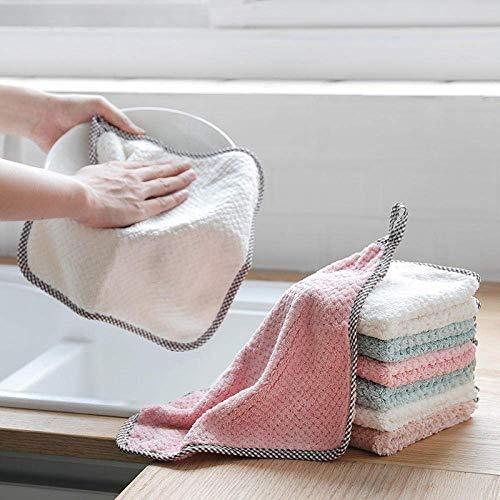 Soul hill 4 Coche del Color del Cuidado de la Colada Pulido Secado Lavado de Microfibra Toalla de Cocina de Limpieza de Fibra superfina Duster Cloth