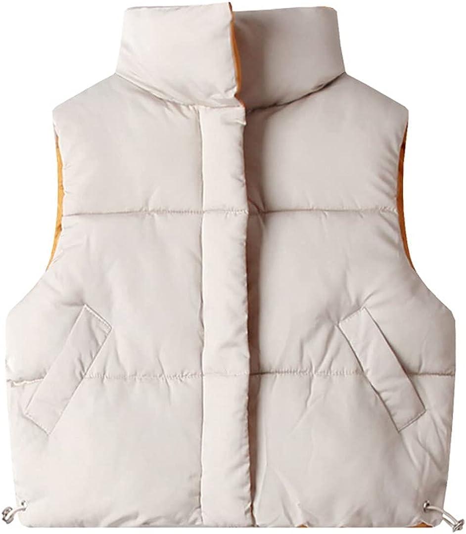 GHURFNP Autumn Winter Children Warm Vest Winter Thicken Waistcoat Outerwear Cotton Jackets Unisex 2-8Y