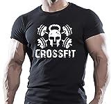 Crossfit WOD fonctions d'entraînement Fitness Force T-Shirt de Sport Noir