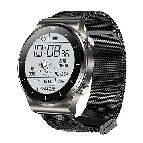 BOLEMAOYIFFF 2021 Nuevo Modo Deportivo TM01 Ritmo cardíaco Smart Watch (Color : Grey Milanis)