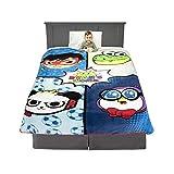Franco Kids Bedding Super Soft Plush Micro Raschel Blanket, Twin/Full Size 62' x 90', Ryan's World
