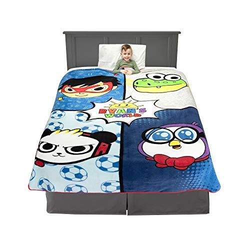 Franco Ryan's World Kinder-Bettwäsche, superweiche Plüsch-Micro-Raschel-Decke, Doppelbett, 157,5 x 228,6 cm