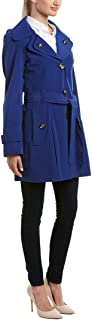 London Fog Women's Trench Coat Hooded Layered Collar Belted