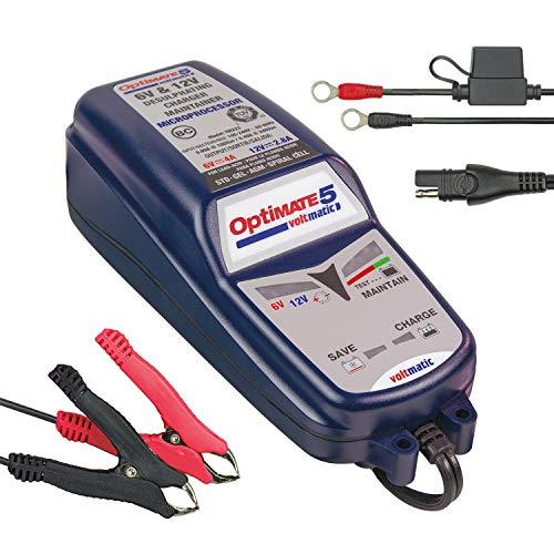 OptiMATE TM-220 Lädt automatisch 6V und 12V Batterien, Blue, 5 VoltMATIC 4A 2.8A