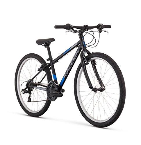 "Raleigh Bikes Kids Talus 26 Recreational Mountain Bike, 26""/One Size, Black"