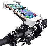 Quntis Soporte de teléfono para bicicleta, giratorio 360 grados, compatible con iPhone SE 2020/SE/8/7/6s Plus/6, Samsung Galaxy J2/J3/C5/S5/S6