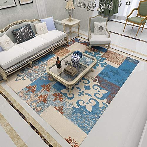 Youzha 2019 tapijt, modern, minimalistisch, voor woonkamer, slaapkamer, salontafel, antislip, geweven, gevlochten
