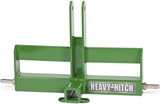 Category 1, 3 Point Hitch Receiver Drawbar with Suitcase Weight Bracket - Standard Duty, Green