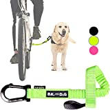 Dog Bike Leash, Hands Free Dog Leashes. Dog Bicycle Lead for Small, Medium and Large Dogs, Designed to Lead one or More Dogs with Maximum Safety, Easy Assembly Without Tools. Patented Product.