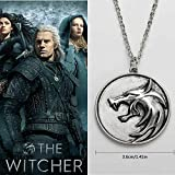 Witcher - Collana con medaglione, motivo: testa di lupo, accessorio di Geralt della serie ...