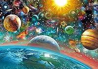 Shimaier1000ピースジグソーパズル宇宙、惑星、太陽、銀河 自然 大人/子供/ティーン向けの楽しい家族向けゲーム 教育 男の子/女の子のための最高の誕生日プレゼント