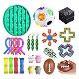 24 Piezas Sensory Fidget Stress Relief Toys Pack Set Paquete De Juguetes, Juego De Juguetes Sensoriales Fidget Toys Set Alivia El Estrés TDAH Adicción Y La Ansiedad Fidget Toy Para Adultos, Niños