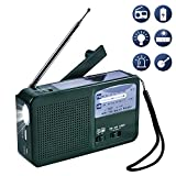Olycism Radio AM FM NOAA Manivelle Dynamo Radio Solaire Radio Multifonction d'urgence...