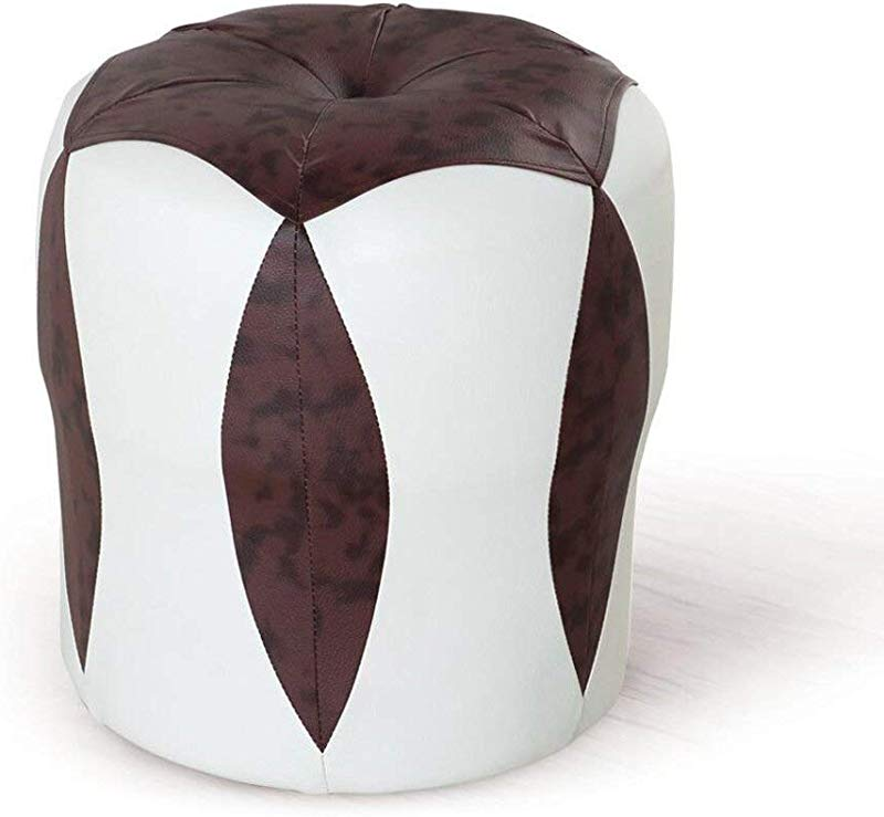 Carl Artbay Wooden Footstool White Brown Flower Stool Low Stool Change Shoes Make Up Stool Children S Leather Stool Waterproof Home