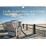 Calendario de la costa, Mar del Norte y del Báltico, DIN A3, calendario perpetuo de la costa