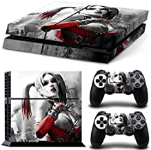 ZOOMHITSKINS PS4 Playstation 4 Console Skin Decal Sticker Harley Quinn + 2 Controller Skins Set