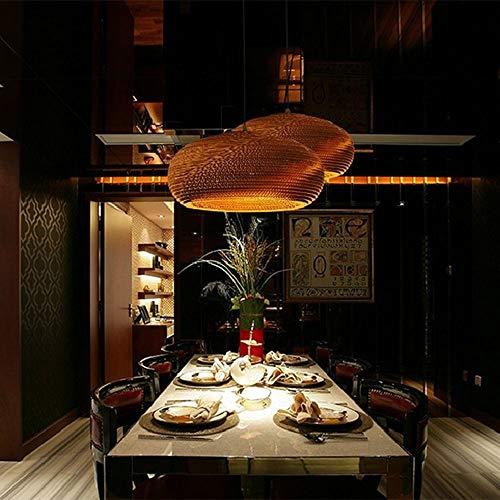 Honeycomb Cafe hanglampen, Bruin gegolfd papier hanglamp voor eettafel, Bar, Restaurant, E27 in hoogte verstelbare hanglampen voor Eetkamer,E