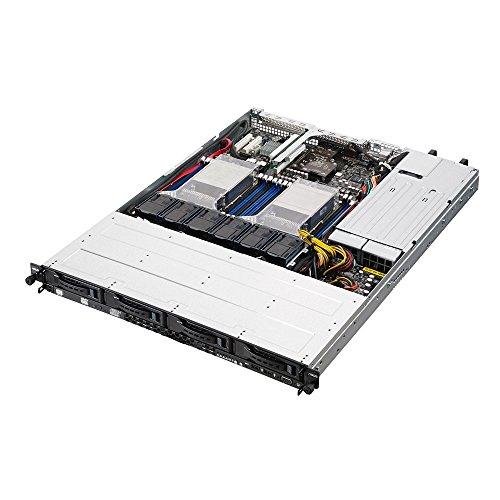 ASUS RS500-E8-RS4 V2 - Servidor para Montaje en Rack (2 sockets 2011-3/Intel C612/DDR4/S-ATA/600/1U, Color Plateado