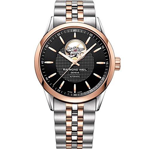 Reloj Automático Raymond Weil Freelancer, PVD Oro Rosa, Neg