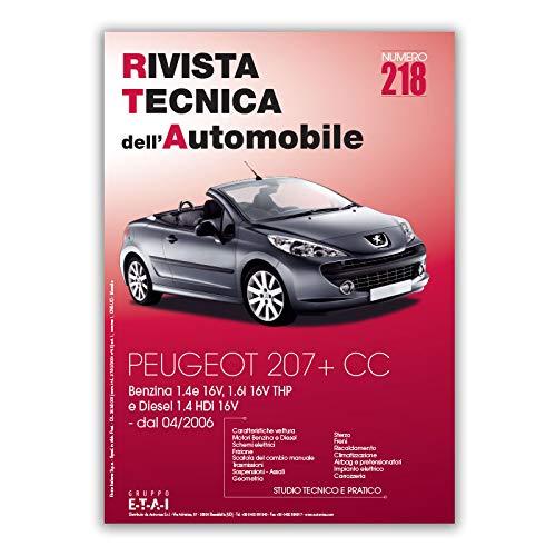 Manuale di Riparazione RTA 218 PEUGEOT 207 (2006 - 2017)