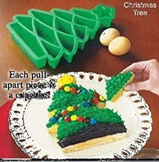 Christmas Tree Take-Apart Silicone Cake Baking Pans for Cakes, Muffins, Gelatins, Cupcakes and More! Looks Like One Cake!