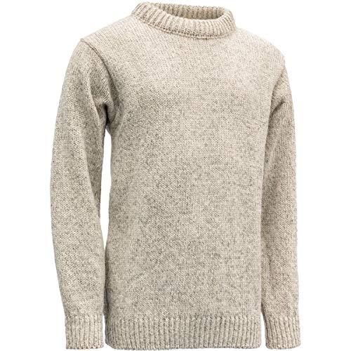 Devold Herren Pullover Nansen Sweater Crew Neck grau/blau meliert - L