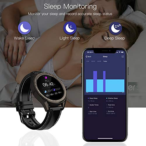 """COULAX Smart Watch, GPS Smartwatch with 1.3"""" Touch Screen, Fitness Tracker Step Counter, Activity Tracker with Blood Oxygen Monitor, IP68 Waterproof Sport Watch for Women and Men 5"""