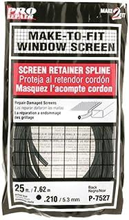 Prime-Line P 7527 Screen Retainer Spline, .210-in, 25-ft, Black