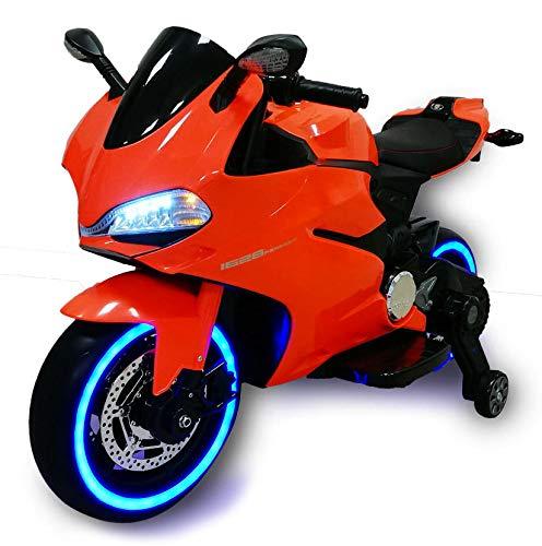 babyfun Moto Elettrica per Bambini 12V Strada Arancione