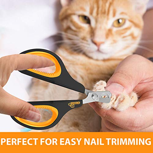 Cat Nail Clippers - Professional Cat Claw Trimmer & Cat Claw Clipper for Cat, Kitten, Puppy, Rabbit, Hamster, Bird, Ferret, Guinea-pig Small Breed Animals - Solid Clipper Design Sharp and Safe