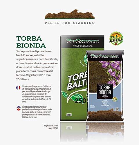Terra terriccio Torba bionda baltica acida di sfagno BIO 20 Litri