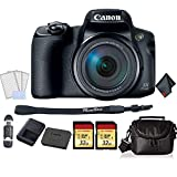 Canon PowerShot SX70 HS Digital Camera Bundle with 2X 32GB Memory Cards + SD Card USB Reader + LCD Screen Protectors and More -International Version