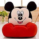 Regalo del cabrito de dibujos animados Sofá, heces Dibujos animados de la butaca hijos de los hijos de asiento Cd pequeño sofá de felpa de Mickey Mouse juguetes niño cómodo asiento blando plegable Sof