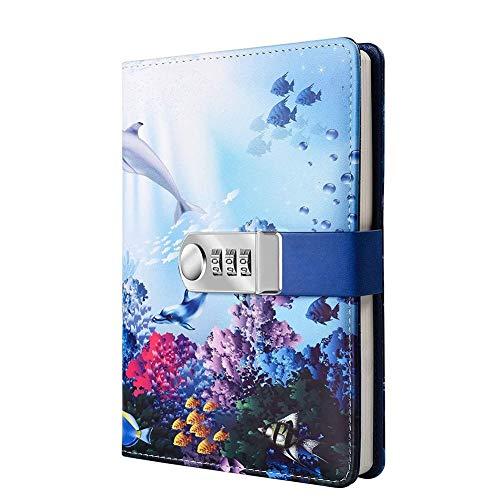 YYDZ Lock Tagebuch Zahlenschloss Schreiben Reise Tagebuch Planer Organizer Digital Passwort Notizbuch Schloss Tagebuch mit Passwort Sperre Schulbüros Briefpapier (Color : 2)