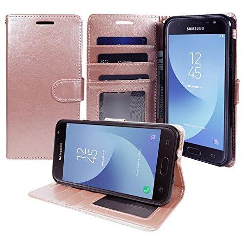 Zase Galaxy S8 Active Hülle, für Samsung Galaxy S8 Active ATundT Wallet Hülle Pouch Premium PU Leder Flip Cover mit [Ständer] Kartenschlitz [Handgelenkschlaufe] für S8 Active (Rose Gold Pink Luxury)
