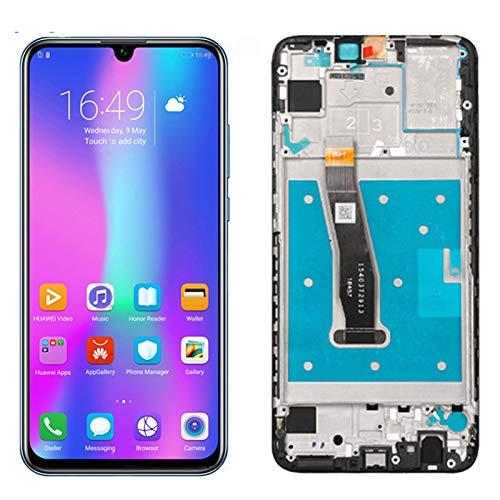 Toque LCD Fit For Huawei P Smart 2019 Pot-LX1 L21 LX3 Versión Pantalla LCD + Pantalla Táctil Montaje Digitalizador LCD Reemplazar Digitalizador de la Pantalla táctil (Color : Black with Frame)