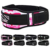 Mytra Fusion Unisex Gym Belt Fitness Belt for Exercise, Weightlifting, Powerlifting, Crossfit Training (Camo Pink, Medium)