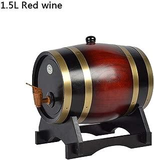 Madera Vino Barril dispensador Mesa dispensador de Vino 1.5L / 3L Dispensador del Barril de Vino de la Madera de Roble del Vintage para el Puerto del Ron del Whisky de la Cerveza