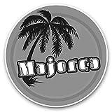 Impresionantes pegatinas de vinilo (juego de 2) 30 cm BW – Sello de viaje con diseño de atardecer de Mallorca para portátiles, tabletas, equipaje, reserva de chatarras, neveras, regalo genial #40648