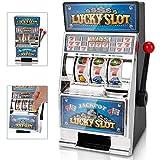 bakaji salvadanaio monete mini slot machine lucky slot casinò con manopola funzionante fai jackpot per riavere i soldi gioco per adulti e bambini gran casinò game