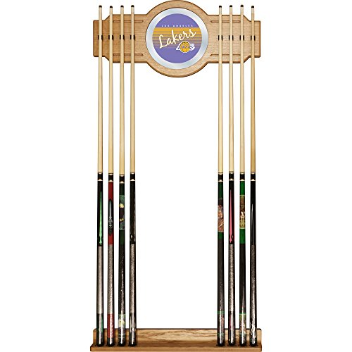 NBA Los Angeles Lakers Cue Rack with Mirror, One Size, Brown image