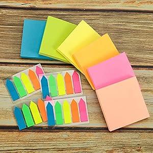 Yumi V 600Pcs Notas Adhesivas de Colores Variados, Notas Autoadhesivas, Notas de Colores con 500Pcs Adhesivas Flechas