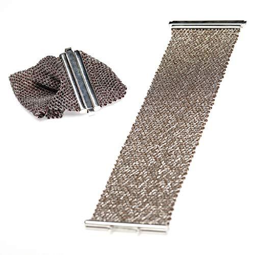 Handgefertigtes italienisches Armband aus Seide und Silber, Weinrote Seide