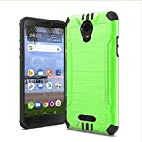 for TCL A1 Case, Phonelicious Slim Fit Brushed Metal Texture Shock Proof Lightweight Drop Protection Phone Cover Compatible with A501DL (Green)