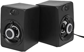 SADA V-118 USB Wired Speaker LED Computer Speaker Bass Stereo Music Player Subwoofer Sound Box for Desktop Laptop Notebook...