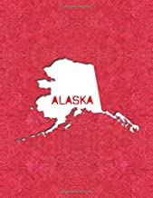 ALASKA: 8.5x11 lined notebook : The Great State of Alaska USA : The Last Frontier