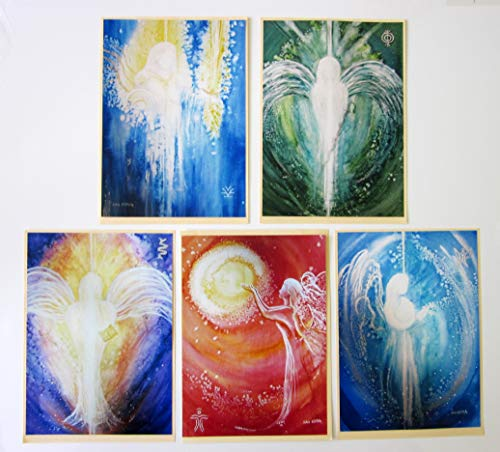 silwi-art***** Erzengel Set - 5 Engelbilder/Wanddekoration, Wandbilder, Metatron, Michael, Raphael, Uriel, Gabriel