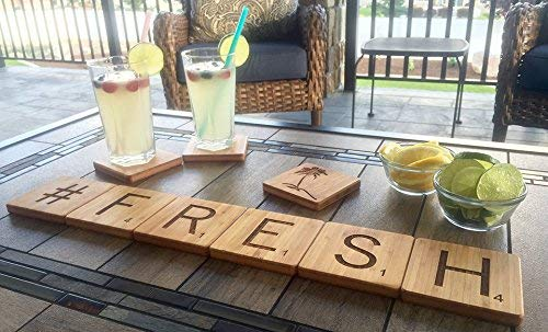 Personalized Wooden Coaster Set