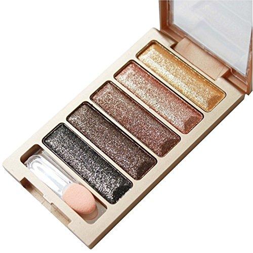 Fards à paupières,5 couleurs paillettes fard à paupières maquillage ombre palette-Lonshell (03#)