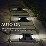 Solar Deck Lights,UNIFUN New Design Driveway Dock LED Lights,Solar Powered Waterproof Road Markers for Step Sidewalk Stair Garden Ground Pathway Yard (6PACK) Auto On